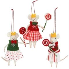Mice - 3 Girls with Lollipops (set of 3)