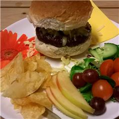 Burger - Pork with cheese