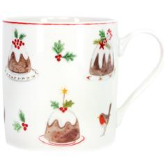 Plum Pudding Bone China Mug