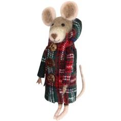 Rat - with Plaid Wool Coat - red/green