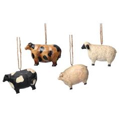 Farm Animals set - Cow, Sheep & Pig - New England