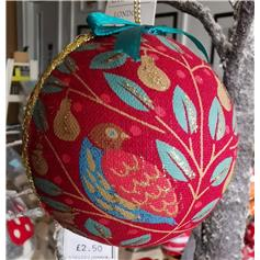 Partridge Bauble - red