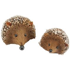 Twig Hedgehogs - with Glitter, 2as
