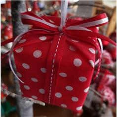 Parcel with Bow - Red