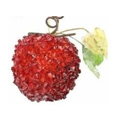 Crushed Bead Fruit - Apple - red/purple