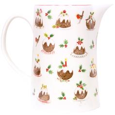 Plum Pudding Bone China Jug, large
