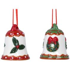 Christmas Bells - Holly & Mistletoe