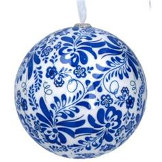 Blue & White Paper Ball - 1