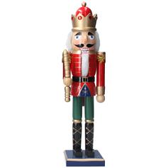 Nutcracker - red with baton