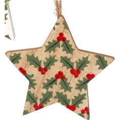 5-point Star with Holly - wood