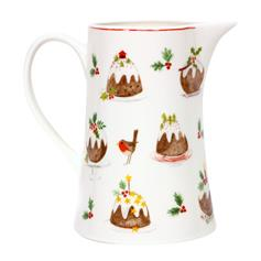 Plum Pudding Bone China Jug, medium