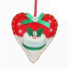 Bake-off Heart decoration - Red
