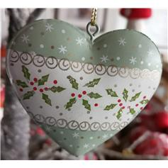 Old Time Christmas Heart