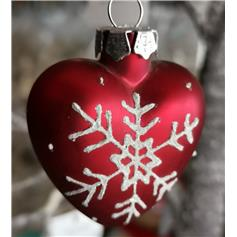 Heart with Snowflake