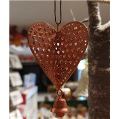 Christmas Heart  with Bell