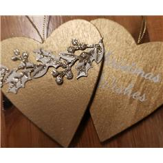 Christmas Wishes - Gold Heart