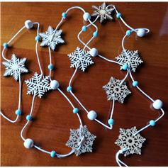 Snowflake Garland - blue & white